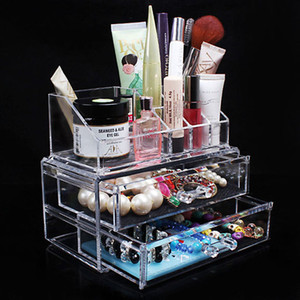 Wholesale Acrylic Transparent Cosmetic Organizer Drawer Makeup Case Storage Insert Holder Jewel Box x x cm