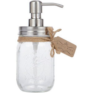 Mason Jar Soap Dispenser Rust Free 304 Stainless Steel Lotion Dispenser Perfect Holiday Gift for the Kitchen or the Bathroom Jar not cluded