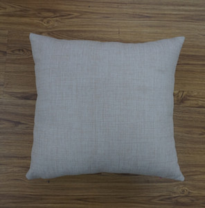 18 inches sqaure plain dyed natural linen sublimation blanks pillow case plain linen pillow cover for embroidery