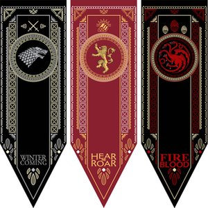 Wholesale House Stark Banner Game of Thrones Wolf Tournament Outdoor Banner Flag Custom America USA Team Soccer College Baseball Flag