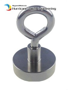Wholesale magnets neodymium resale online - 70pcs LBS Pulling Mounting Magnet Diameter mm Magnetic Pots with Hook Lifting Strong Magnet Neodymium Permanent Magnets NiCuNi