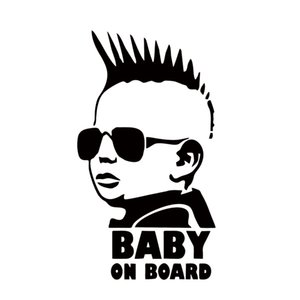 Wholesale New Design Baby On Board Funny Car Sticker Personality Warning Decal Decorative Jdm
