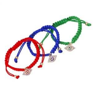 Wholesale Europe and the United States Turkey eye pendant jewelry red rope hand braided bracelet