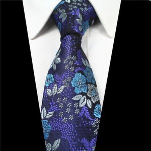 Wholesale 7cm Men Ties Silk Tie Men s Floral Neck Ties Handmade Wedding Party Paisley Necktie High Quality Business Ties Jacquard Pattern Tie YZ