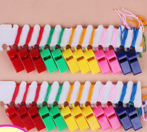 Colorful Plastic Referee whistle Havung football basketball class whistle party cheer concert cheer activities Children toy Noise
