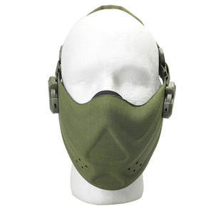 Wholesale Outdoor Hunting Protective Gear Half Face Mask Tactical Cycling Breathable Face Shield Military Detective Safety Lightweight Guard