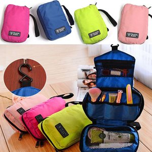 Wholesale HOT Portable Cosmetic Case Travel Makeup Toiletry Hanging Purse Holder Beauty Wash Make Up Bag Organizer With Hook WX B26