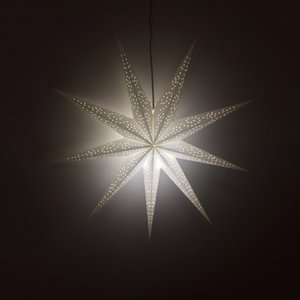 Wholesale New cm Party Decorative Paper Star Lights White Points Star Lampshade Lantern for Christmas Festival Celebration