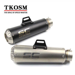 Wholesale TKOSM mm Laser SC Universal Modified Motorcycle Scooter Motocross Exhaust Muffler Dirt Bike Exhaust For Yamaha YZF R1 R6 Z800 KTM390