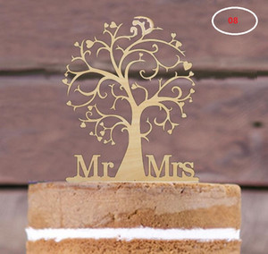 Wholesale centerpieces for tables for sale - Group buy The wedding table centerpieces cake toppers wood material cake card wedding decorations many styles for choose can be customized
