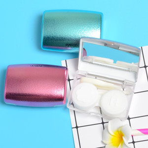 A8093 Eyeglasses Case Colorful Contact Lens Easy Carry Case Travel Kit Plastic Contact Lens Storage Soaking Cases L + R Marked