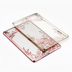 Diamond Secret Garden Flower for iPad Mini 2 3 4 For iPad air1 air2 Pro Electroplating Frame Transparen Soft TPU Tablet Case Capa