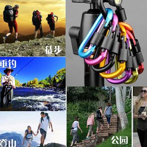 Wholesale Outdoor Sports Equipment D ring carabiner camp keychain Aluminium locking Carabiner Hook Backpacking Buckle