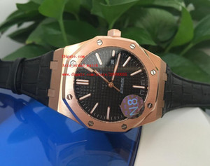 Wholesale Factory Supplier Top quality Luxury HOT Rose Gold Automatic Mechanical Black Dial Stainless Steel Mens Men s Watch Watches