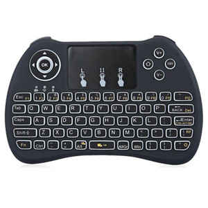 Wholesale 2 G Mini Handheld Wireless Keyboard H9 Fly Air Mouse With Backlight Touchpad for PC Android TV BOX