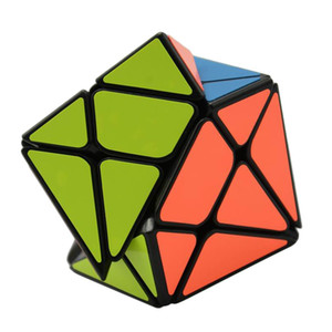 YongJun Axis Magic Cube Change Irregularly Jinggang Speed Cube with Frosted Sticker YJ 3x3x3 Black Body Cube New