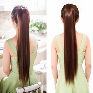 Sara Ladies & Girls Drawstring Staight Ponytail Hair Extension Clip in Ponytail Pony Tail Hairpiece Straight Horsetail Synthetic Hairpiece