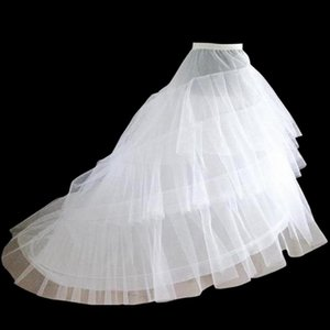 Back To Search Resultsweddings & Events Jupon Mariage Stock A Line Black White Trailing Petticoat High Quality Underskirt Elegant Enaguas Para El Vestido De Boda