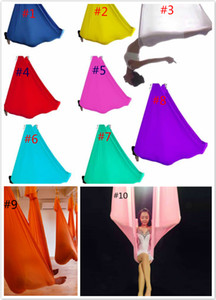 Wholesale yoga swing for sale - Group buy hammock YOGA SWING anti gravity Yoga Stretch Resistance Bands hammock Yoga bed Belts Indoor fitness Supplies