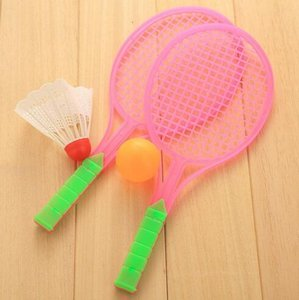 Wholesale 3pair Badminton Table Tennis Ball Set Outdoor Sports Game Children Boys Girls Plastic Two in one Toy Rackets