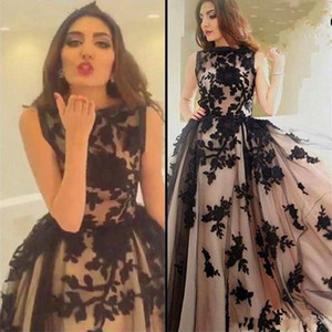 Black Lace Sleeveless Long Prom Dresses 2017 Vintage Graduation Gowns A-Line Formal Women Evening Dresses Vestido De Formatura Longo on Sale