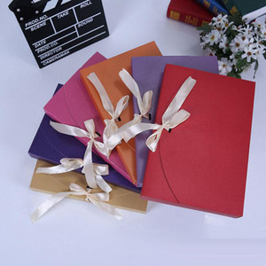 Wholesale cute vintage envelopes for sale - Group buy 26X17 X3 CM New Cute Vintage Kraft Paper Envelope Gift Box Wedding Party Favor Packaging With Ribbon