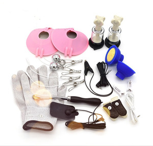 masculino estim venda por atacado-2021 Electro para Estim Male Set Device Kit Adulto Jogar Chastity Sex Lockdown Game Prostate Stimulator Toys BDSM VPSHL