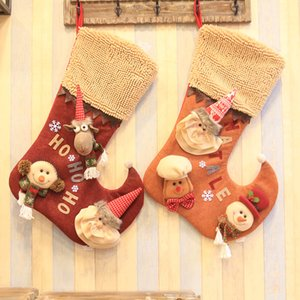 Wholesale Christmas Decoration For Home New Luxury Gift New Year Christmas Boot Decoration Ornaments Supplies