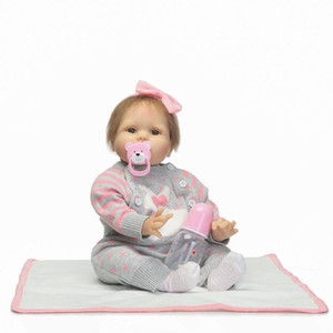 Wholesale silicone dolls body for sale - Group buy Fashion Inch Lifelike Reborn Dolls Dabies Silicone Cloth Body Reborn Toys For Girls Collection Cute Bonecas