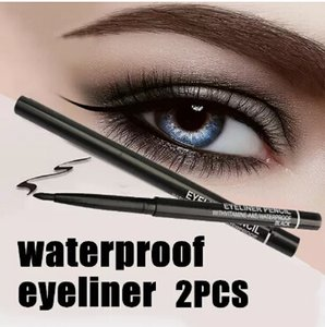 Wholesale Wholesale- Hot Sale! 2pcs lot Women Waterproof Retractable Rotary Eyeliner Pen Eye Liner Pencil Makeup Cosmetic Tool 131-0229 free shipping