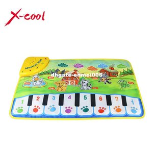 Wholesale 37x60cm baby musical carpet Children Play Mat baby Piano Music gift baby educational mat Electronic toys for kids