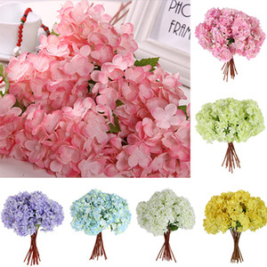 Wholesale Bouquet Artificial Craft Hydrangea Party Wedding Bridal Plastic Flower Decor NDQ