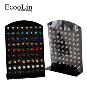 72 pcs 1Set Wholesale Jewelry Bulk Lots Fashion Stainless Steel Multicolor Rhinestone Stud Earrings For Women Men LR286 Free Shipping