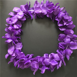 Wholesale purple garlands for sale - Group buy 100pcs Purple Hawaiian Hula Leis Festive Party Garland Necklace Flowers Wreaths Artificial Silk Wisteria Garden Hanging Flowers