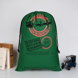 Wholesale New Arrival High-Level Christmas Gift Bags Large linen Santa Sack Color Elk Organic Heavy Canvas drawstring Bag