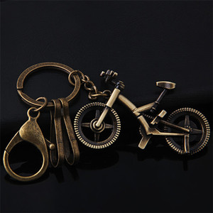 10pcs Home&Car Bicycle keychain metal simulation chain stereo transportation vehicle key pendant Decorative Gift Diy case