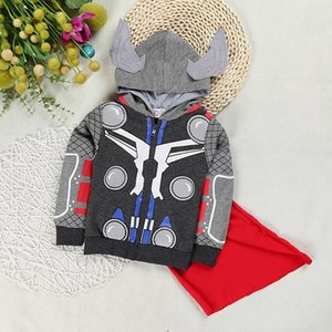 children boys super heroes coat cartoon spring autumn fashion cotton jacket for kids boy cool hooded outwear boutique clothes retail on Sale