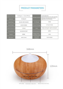Wholesale 300ml Brand Essential Oil Diffuser Wood Grain Ultrasonic Aroma Cool Mist Humidifier for Office Bedroom Baby Room Study Yoga Spa