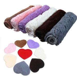 коврики для ванной комнаты  оптовых-X40CM Absorbent Memory Foam Bath Bathroom Floor Shower Heart Shape Door Mat Rug