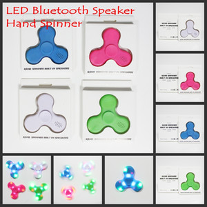 Wholesale New Led Bluetooth Music Spinner Finger HandSpinner EDC Hand Tri Spinner HandSpinner EDC Toy For Decompression Plastic Toys in Stock