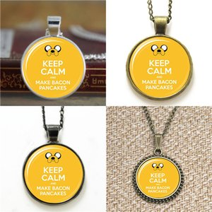 10pcs Adventure Time Jake Keep Calm and Make Bacon Pancakes pendant Necklace keyring bookmark cufflink earring bracelet