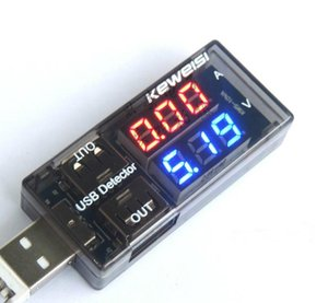 Wholesale Current and voltage tester USB USB USB current voltage meter voltage tester dual display table
