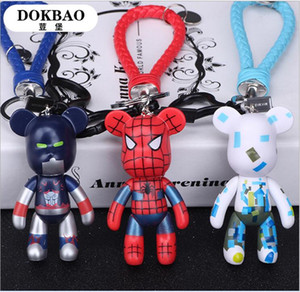 Wholesale Violence bearskin rope anime keychains Lovers bags hang doll car key chain men and women