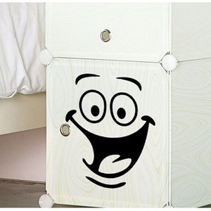 Wholesale Smile face Toilet stickers diy personalized furniture decoration wall decals fridge washing machine sticker Bathroom Car Gift