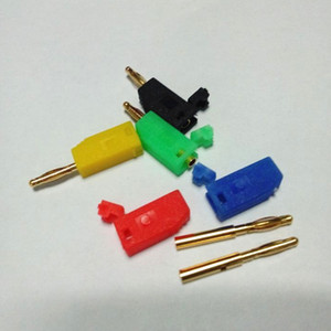 Wholesale 1000Pcs Freeshipping Gold Plated mm Copper Stackable Banana Plug Jack Connector for Binding Post Test Probes Color