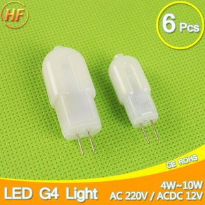 Wholesale Dimmable V V Mini LED G4 COB LED Bulb Lamp W W DC AC Angle Chandelier Replace Halogen Lampada Ampoule Bombilla