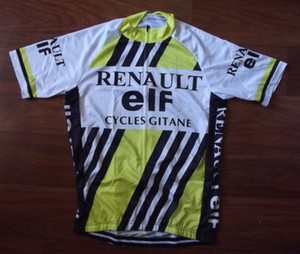Wholesale Renault ELF mens Ropa Ciclismo Cycling Clothing MTB Bike Clothing Bicycle Clothes cycling uniform Cycling Jerseys XS XL A52