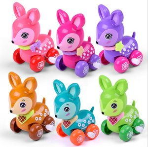 Wholesale Lovely wind up toy animal funny baby Zoo Baby deer design Running Clockwork Spring Toy newborn baby clockwork toy Color Random