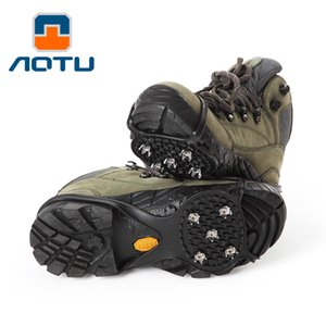 AOTU Shoe Cover Gourd Type Simple Antiskid Crampons 2 Pack 5 Toothed Crampons Crampons 254 on Sale