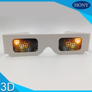 Wholesale Promotional cheap paper d glasses paper heart diffraction glasses